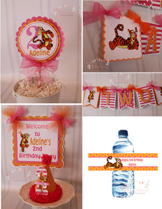 TIGGER - WINNIE THE POOH - HAPPY BIRTHDAY PARTY PACKAGE