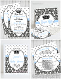 PRINCE - BABY SHOWER  PARTY PACKAGE -  PRINTABLE PARTY PACKAGE - JPG/PDF - DIY
