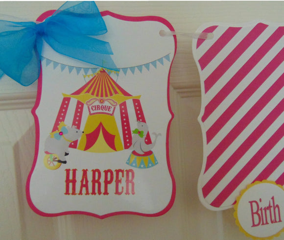 CIRCUS - 12 MONTH PHOTO BANNER