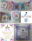 UNICORN FLORAL - 1ST BIRTHDAY PARTY PACKAGE