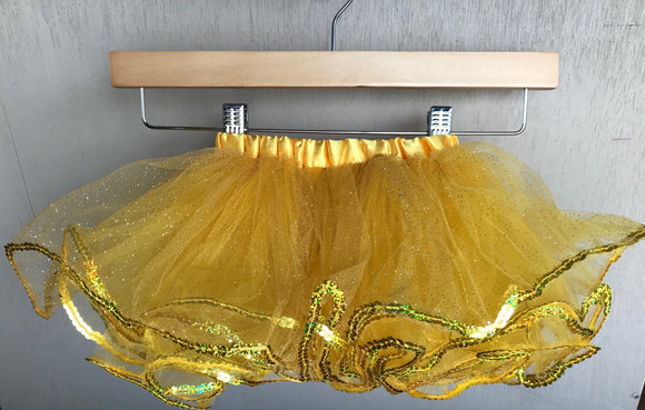 TUTU - BELLE YELLOW GLITTER SEQUIN TUTU