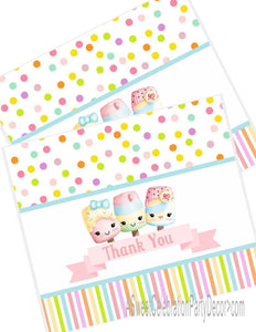 ICE CREAM KAWAII PASTEL - PRINTABLE THANK YOU'S
