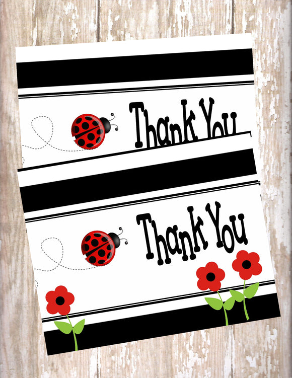 LADYBUG - PRINTABLE THANK YOU'S