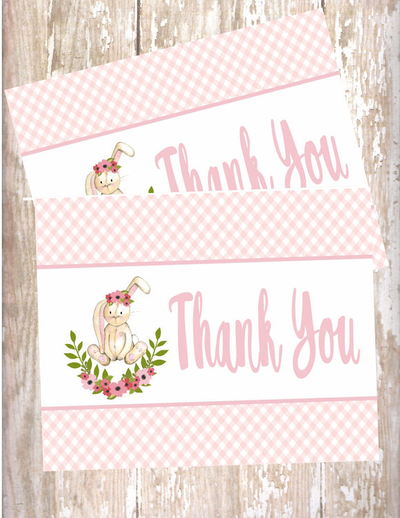 FLORAL BUNNY - PRINTABLE THANK YOU