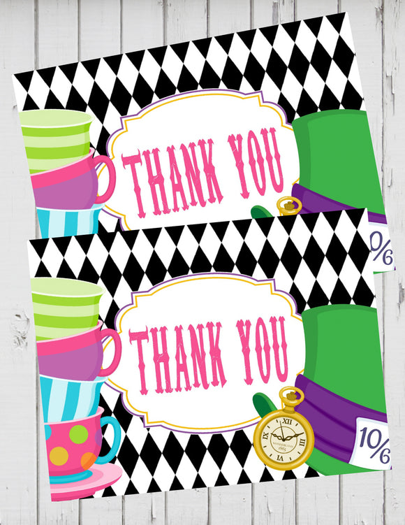 ALICE IN WONDERLAND - THANK YOU'S - TEA PARTY - ONEDERLAND