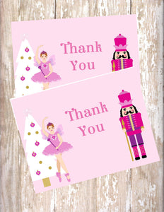 NUTCRACKER BALLET - PRINTABLE THANK YOU'S