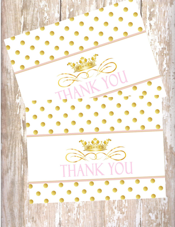 PRINCESS - PRINTABLE THANK YOU CARDS