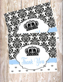 PRINCE - BABY SHOWER INVITATIONS - PRINTABLE - JPG/PDF ONLY - FREE MATCHING THANK YOU
