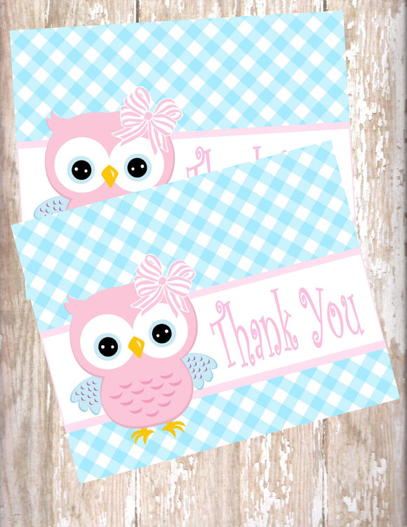 OWL - PRINTABLE THANK YOU'S