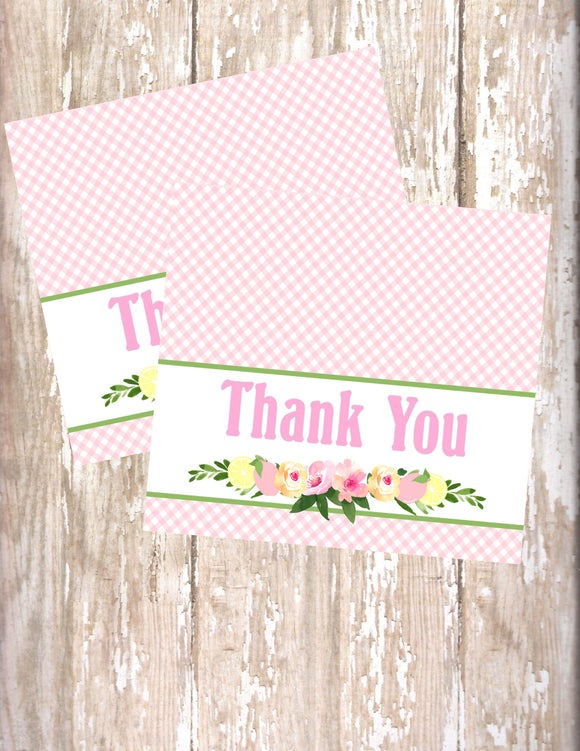 PINK LEMONADE - PRINTABLE THANK YOU'S