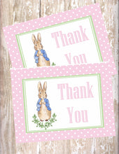 PETER RABBIT WATERCOLOR PINK - THANK YOU CARDS
