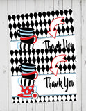 ALICE IN WONDERLAND RED - PRINTABLE THANK YOU'S - TEA PARTY - ONEDERLAND