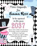ALICE IN WONDERLAND RED - TIME CAPSULE - TEA PARTY - 1ST BIRTHDAY - ONEDERLAND