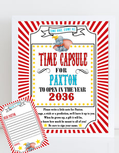 DUMBO - PRINTABLE TIME CAPSULE - RED