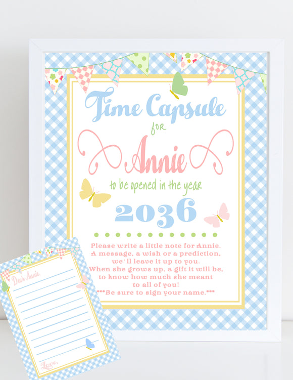 BUTTERFLY KISSES - PRINTABLE TIME CAPSULE