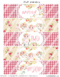 FARM - FLORAL BIRTHDAY - PRINTABLE WATER BOTTLE LABEL - DIY