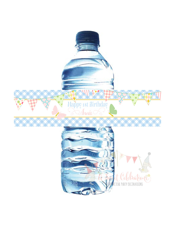 BUTTERFLY KISSES - WATERPROOF WATER BOTTLE LABELS