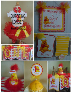 WINNIE THE POOH RED - PETITE - 1ST BIRTHDAY PARTY PACKAGE