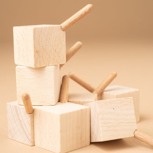 Wooden Spinning Top | Cube - Spinning Tops/Yo-Yos - pucciManuli