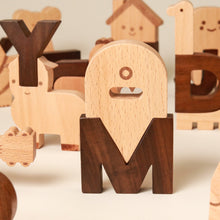 Load image into Gallery viewer, Alphabet Play Blocks - Building/Construction - pucciManuli
