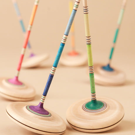 Ara Wooden Spinning Top | Colors - Spinning Tops/Yo-Yos - pucciManuli