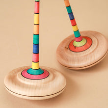 Load image into Gallery viewer, Arabella Wooden Spinning Top | Stripes - Spinning Tops/Yo-Yos - pucciManuli