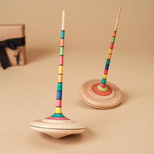 Arabella Wooden Spinning Top | Stripes - Spinning Tops/Yo-Yos - pucciManuli