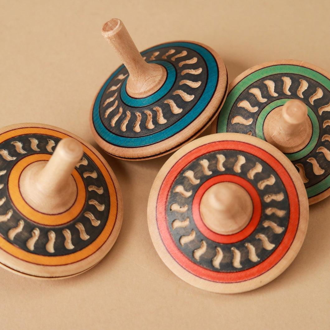 Arabesk Wooden Spinning Top - Spinning Tops/Yo-Yos - pucciManuli