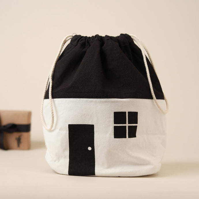 Black & White House Storage Bag - Storage - pucciManuli