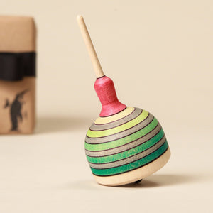 Fridolin Wooden Spinning Top - Spinning Tops/Yo-Yos - pucciManuli