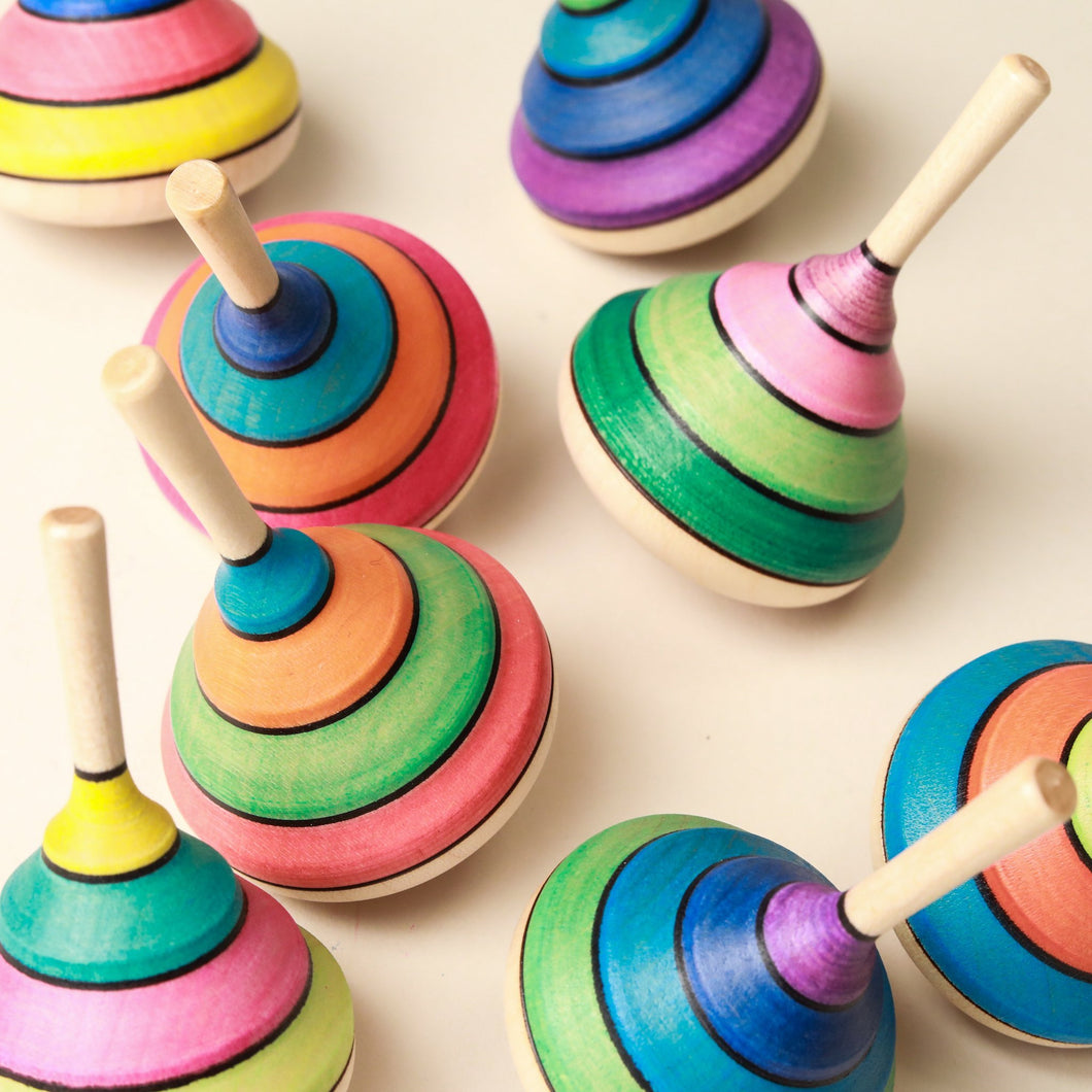Harlequin Wooden Spinning Top - Spinning Tops/Yo-Yos - pucciManuli