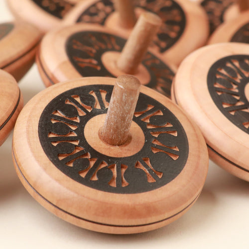 Leporello Wooden Spinning Top - Spinning Tops/Yo-Yos - pucciManuli
