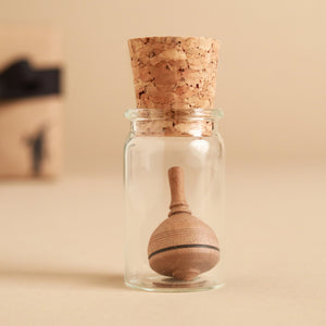 Mini Classic Wooden Spinning Top | Glass Display - Spinning Tops/Yo-Yos - pucciManuli