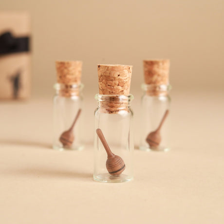 Mini Liliput Wooden Spinning Top | Glass Display - Spinning Tops/Yo-Yos - pucciManuli