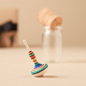 Mini Mona Lotte Wooden Spinning Top | Glass Display - Spinning Tops/Yo-Yos - pucciManuli