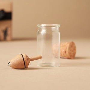 Mini Thunderbolt Wooden Spinning Top | Glass Display - Spinning Tops/Yo-Yos - pucciManuli