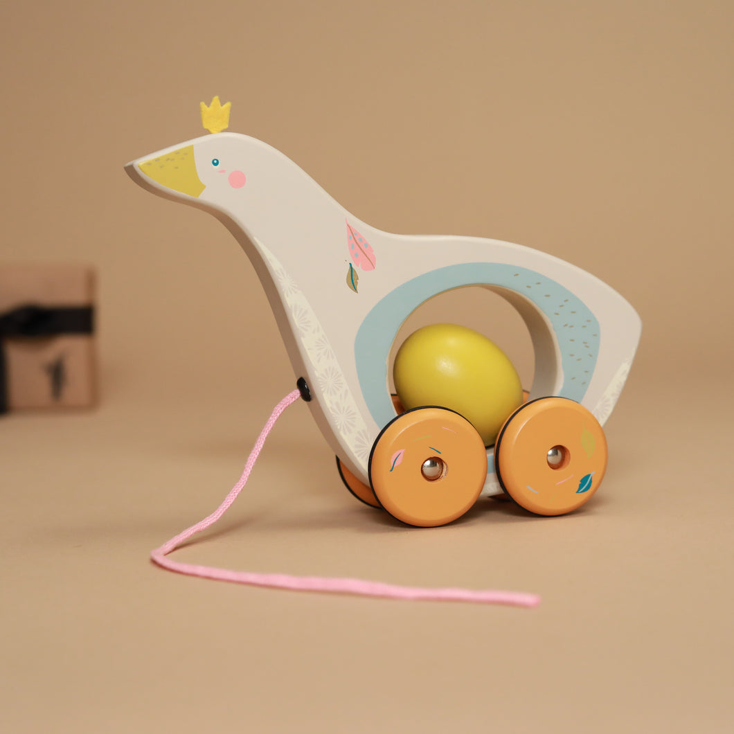 Pull-Along Goose & Egg | Le Voyage d'Olga - Baby (Toys) - pucciManuli