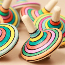 Load image into Gallery viewer, Rallye Wooden Spinning Top | Spring - Spinning Tops/Yo-Yos - pucciManuli