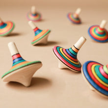 Load image into Gallery viewer, Rallye Wooden Spinning Top | Stripes - Spinning Tops/Yo-Yos - pucciManuli