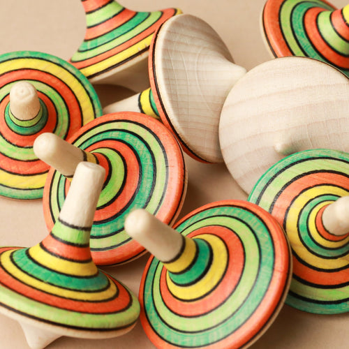 Rallye Wooden Spinning Top | Summer - Spinning Tops/Yo-Yos - pucciManuli