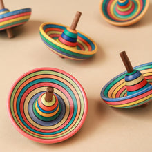 Load image into Gallery viewer, Sombrero Wooden Spinning Top | Striped - Spinning Tops/Yo-Yos - pucciManuli