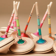 Load image into Gallery viewer, Spaghetti Wooden Spinning Top - Spinning Tops/Yo-Yos - pucciManuli