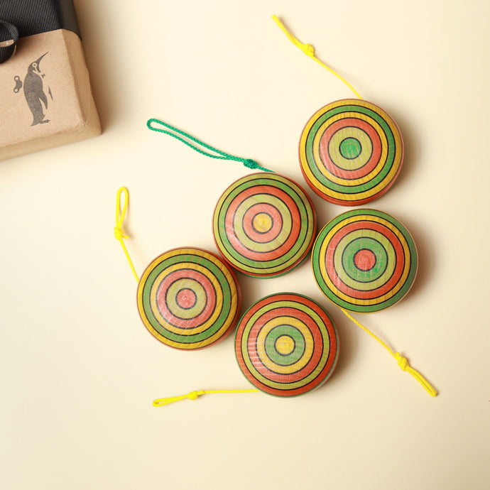 Summer Stripes Wooden Yo-yo - Spinning Tops/Yo-Yos - pucciManuli