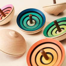 Load image into Gallery viewer, Ufo Wooden Spinning Top | Flora - Spinning Tops/Yo-Yos - pucciManuli