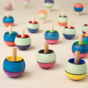 Upside-Down Wooden Spinning Top | Confetti