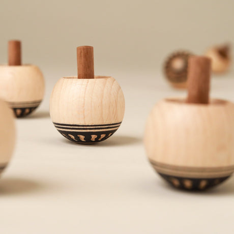 Upside-Down Wooden Spinning Top | Orient - Spinning Tops/Yo-Yos - pucciManuli