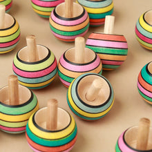 Load image into Gallery viewer, Upside-Down Wooden Spinning Top | Spring Stripes - Spinning Tops/Yo-Yos - pucciManuli