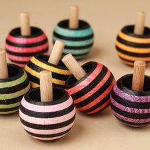 Load image into Gallery viewer, Upside-Down Wooden Spinning Top | Tango - Spinning Tops/Yo-Yos - pucciManuli