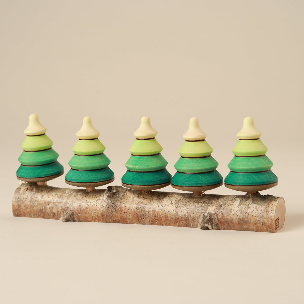 Wooden Spinning Top Set | Forest - Spinning Tops/Yo-Yos - pucciManuli