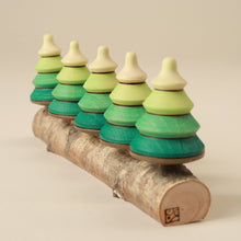 Load image into Gallery viewer, Wooden Spinning Top Set | Forest - Spinning Tops/Yo-Yos - pucciManuli